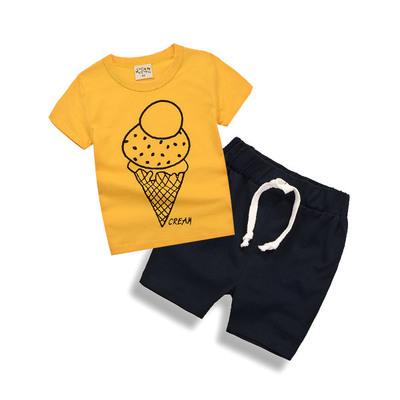 27kids clothing sets 2-piece boys clothing set children