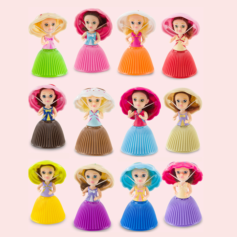 New Style Cupcake Dolls Princess 9cm Cupcake Surprise Doll Deformable Bonecas Toys For Children Birthday Gift Mini Cup Cake Doll