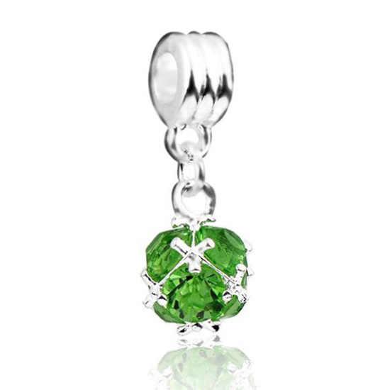 Fashion Kristal Kepingan Salju Bunga Kupu-kupu Cinta Hati Senyum Manik-manik Cocok Pandora Eropa Gelang untuk Wanita Perhiasan Berloque