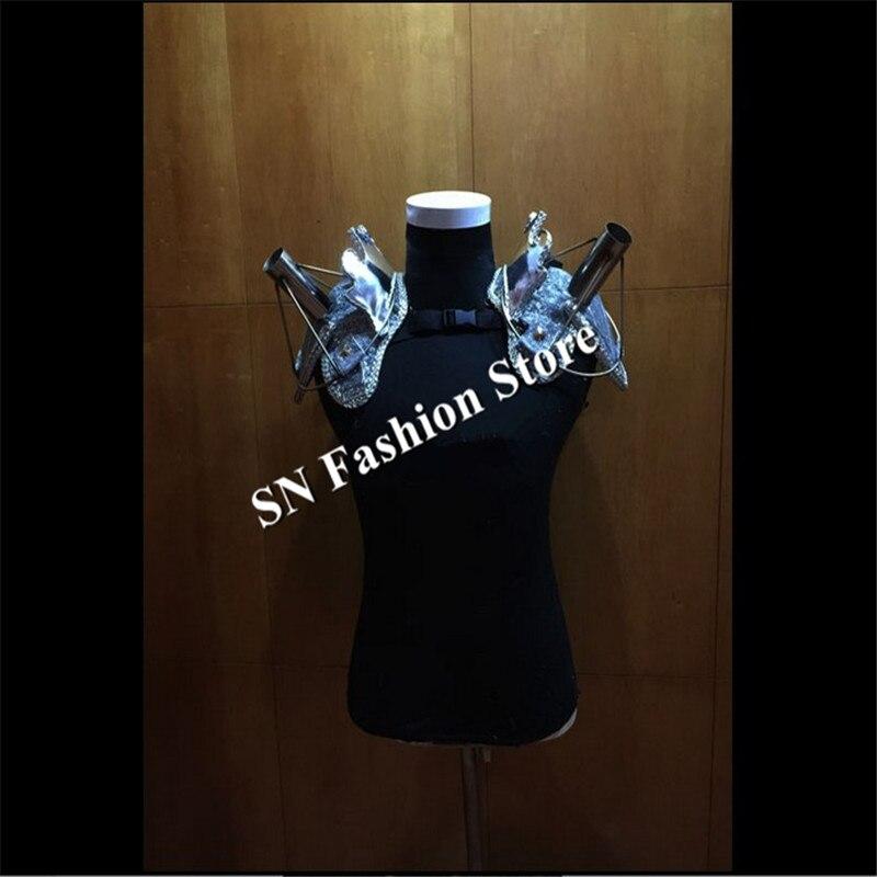 AS88-2 Laulja külma ilutulestiku riided Silver tantsu baari õlg - Pühad ja peod - Foto 4