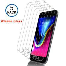 6 7 8 szkło ochronne ekranu dla iPhone 7 8 Plus X XR XS Max szkło hartowane dla iPhone 4 5 5S 6 Plus okno ochronne