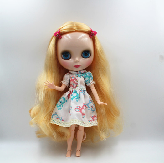 Blygirl Blyth doll Golden wave curls doll NO.31BL74 joints body 19 joints normal skin The hand can be rotated blygirl blyth doll golden wave curls doll no 31bl74 joints body 19 joints normal skin the hand can be rotated
