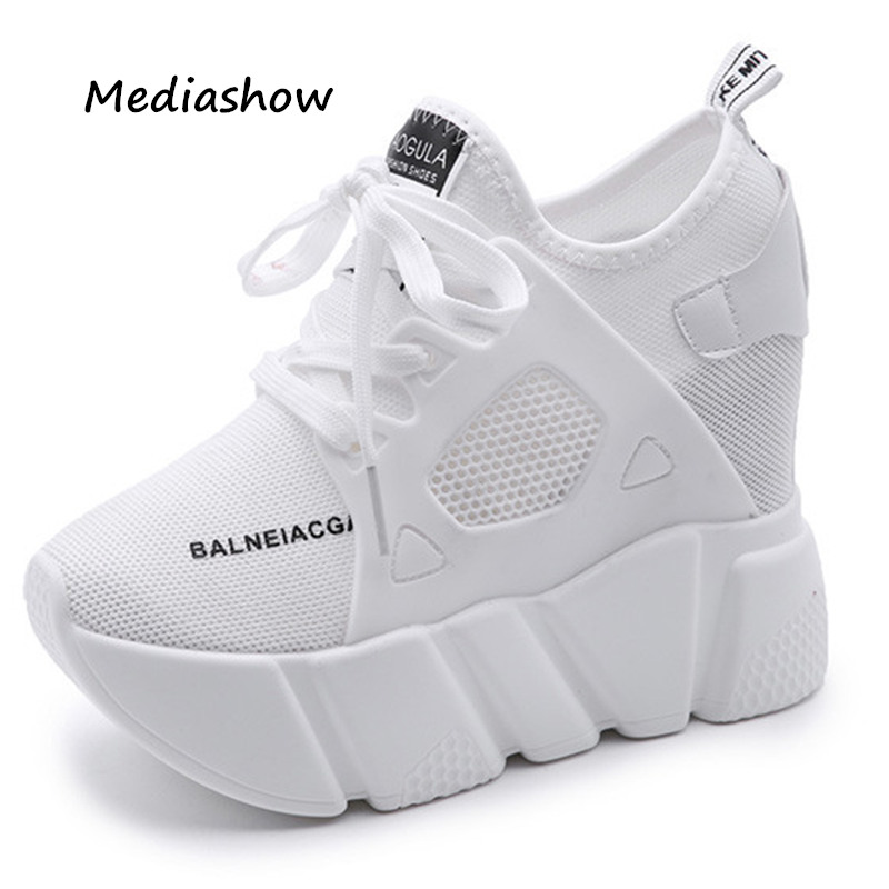 New 2019 Women Casual Platform Shoes Fashion High Heels Shoes Woman Wedges Women Shoes Loafers Heigh Increasing Zapatos Mujer