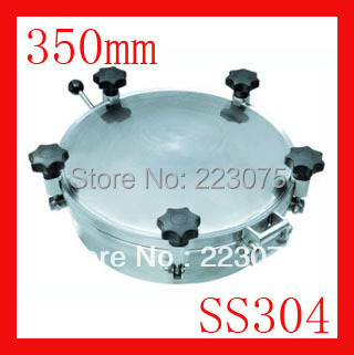 New arrival 350mm SS304 Circular manhole cover with pressure Round tank manway door Height:100mm Hatch new arrival 450mm ss304 circular manhole cover without pressure height 100mm tank hatch