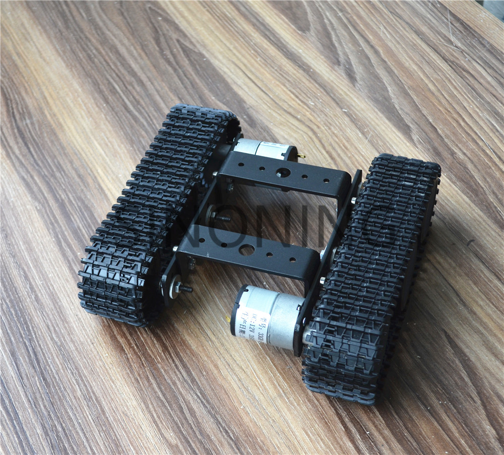 Aluminum alloy tank robot chassis 12V SN5000 tracked car DIY arduino