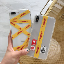 Couple Personality Emboss Clear Dhl Phone Cover Case For Iphone X 11 pro Xs Max Xr 10 8 7 6 6s Plus Luxury Soft Coque Fundas