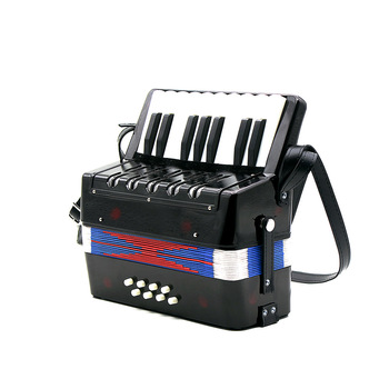 High Quality 17-Key 8 Bass Mini Small Accordion Educational Musical Instrument Rhythm Band Toy for Kids Children