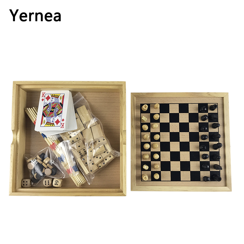 Chess Puzzle Board Backgammon Draughts Game Toy Rod Domino Combination Chess Pieces Inte ...