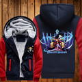 New Winter Warm ONE PIECE Hoodie Anime marine Hooded Coat  Jacket Sweatshirt