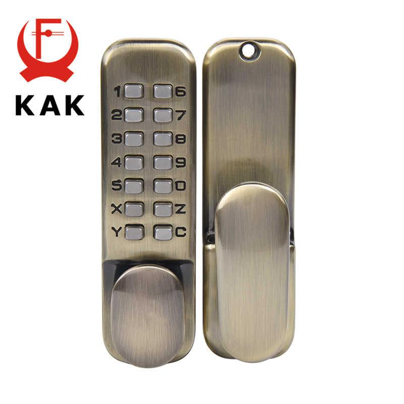KAK цинковый сплав Дистанционный Замок без ключа механический кодовый замок дверной безопасный замок кодовый замок для домашней ручки дверного оборудования 3 цвета