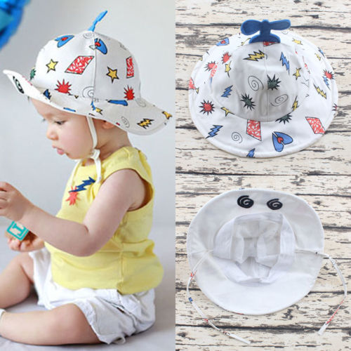 Summer Beach Travel Newborn Infant Kid Baby Hat For Girl And Boy Toddler Infant Popular Sun Cap With Helicopter 2019 New Fashion Style Online Mother & Kids Accessories