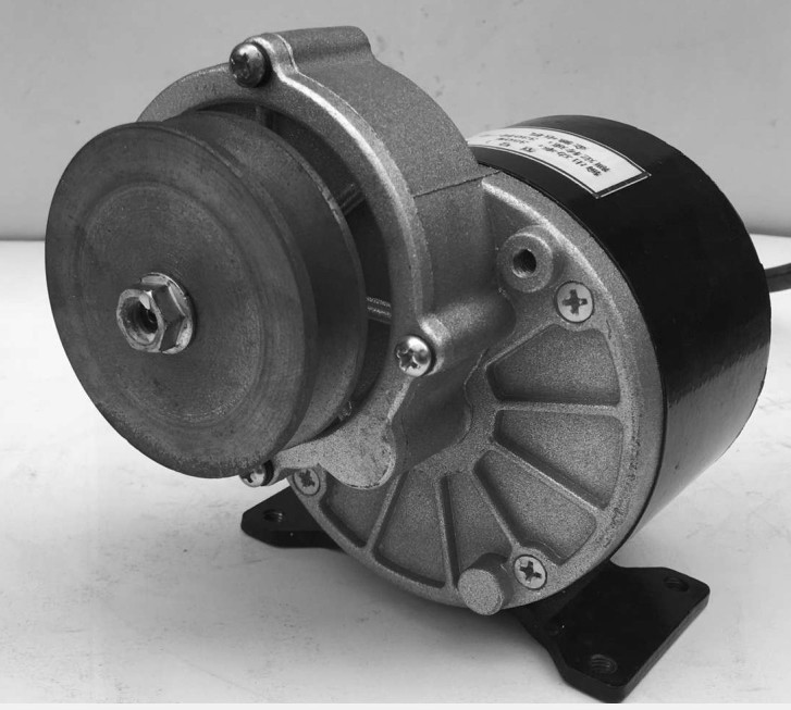 ФОТО 250w 24 v  DC gear brushed motor with belt pulley, MY1016Z2