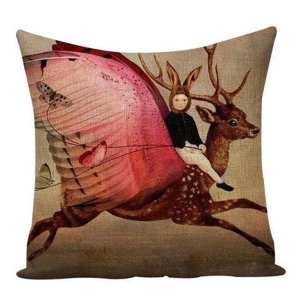 Frida Kahlo Polyester Cushion Cover Self Portrait 45X45cm Pillow Cover Home Decor Pillow Cover Sofa Car Cojines