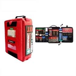 Переносной аптечка первой помощи, безопасная, для выживания в пустыне, легкая медицинская сумка, аварийный комплект для дома, автомобиля, пу...