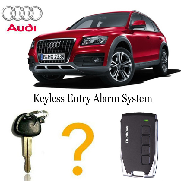 For audi Q5 car engine push start stop button/remote start/PKE car alarm with 3 antenners ignition starter/keyless go system
