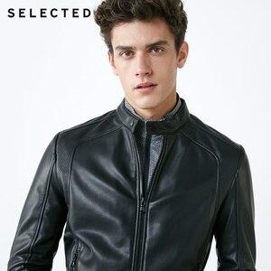 Image 2 - Chaqueta de cuero de cuello alto seleccionada para hombre chaqueta de PU con cremallera S