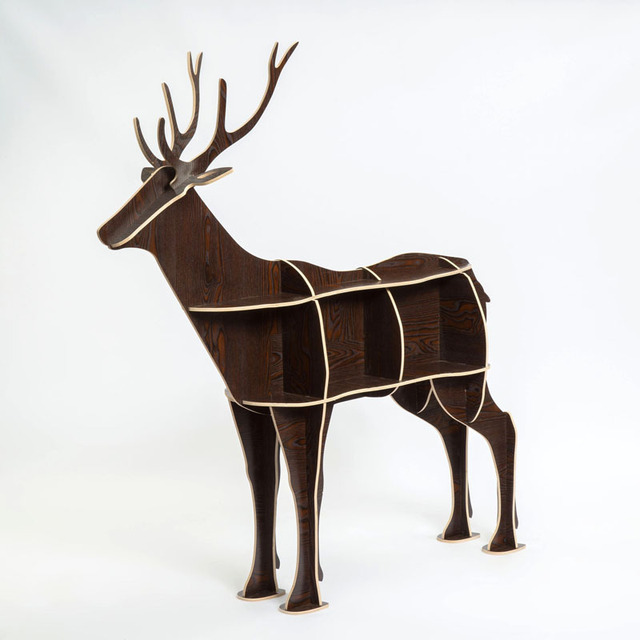Christmas creative deer elk Console Tables animal shaped wooden bookcase shelf creative home decorations ornaments desk table
