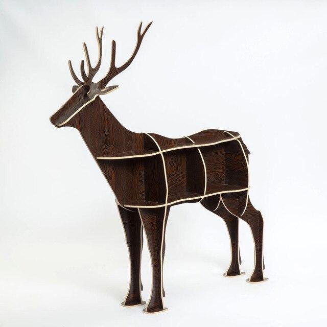 Criativo de natal cervos animal em forma de Tabelas de Console de madeira estante prateleira casa decorações criativas ornamentos tabela desk