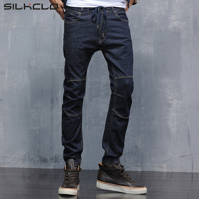 Marca de ropa de Otoño 2016 de Los Hombres Modernos Harem Jeans Estilo  Coreano Delgado Lápiz b33fc7b78393