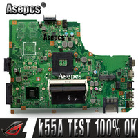 Asepcs k55a placa-mãe do portátil para For Asus k55a a55v k55vd k55v k55 teste original mainboard gm