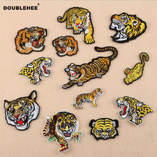 DOUBLEHEE The Chinese Animal Many Expression Patch Embroidered Iron On Patches Beauty Embroidery DIY Coat Shoes Accessories