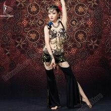 חדש צועני חזיית מכנסיים חגורות שבטי ריקודי בטן צעיף ירך מטבעות למעלה Vintage נשים סקסי אופנה ריקוד בטן תלבושות אבזרים