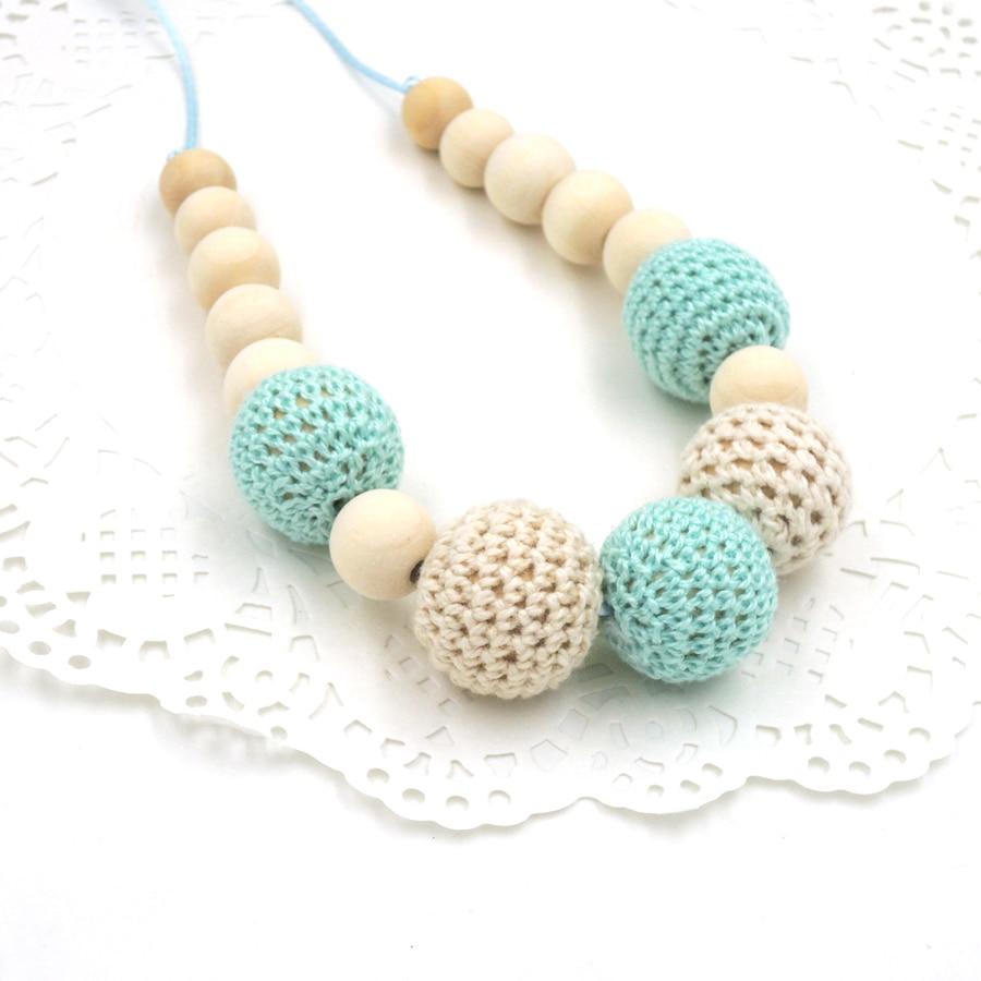 Drop shipping Mint kricka kräm krokett pärlor Tänder halsband - Barnomsorg - Foto 2