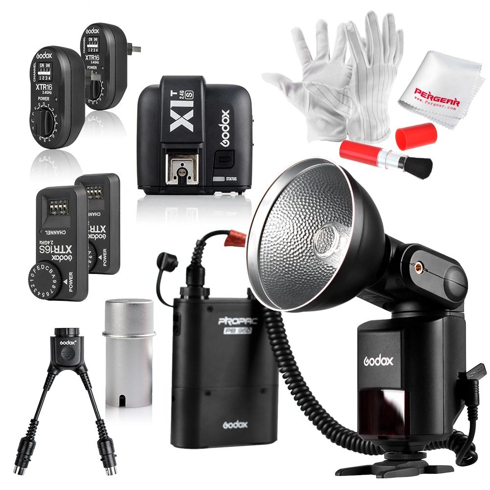 GODOX AD360 360Ws GN80 Flash Light +XTR-16 for AD360 +XTR-16S for V850 V860C V860N Speedlite +X1T-S Trigger Transmitter for Sony godox x1t s ttl 2 4g wireless trigger for sony 2x xtr 16s flash receiver for v850 v860 c v850ii v860iic v860n v860ii f v850ii