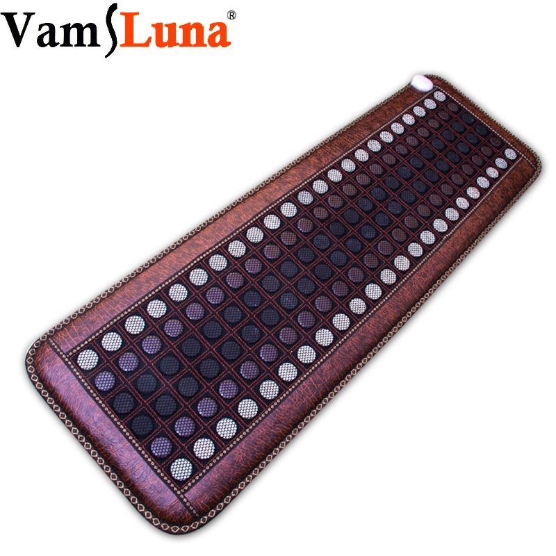 Far Infrared Natural Photon Jade Tourmaline Heating Pad Pro Hot Stone Therapy Mat With Smart Controller Adjustable Temperature