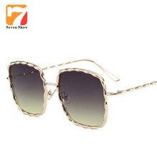 Cuadrado grande gafas de Sol de Las Mujeres Diseñador de la Marca de Los Hombres de La Vendimia de Gran Tamaño Gafas de Sol Para Femae Lunette de Soleil Gafas Mirror Shades