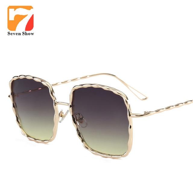 eb907f7df7bf11 Grote Vierkante Zonnebril Vrouwen Mannen Vintage Merk Designer Oversized  Zonnebril Voor Femae Brillen Spiegel Shades Lunette