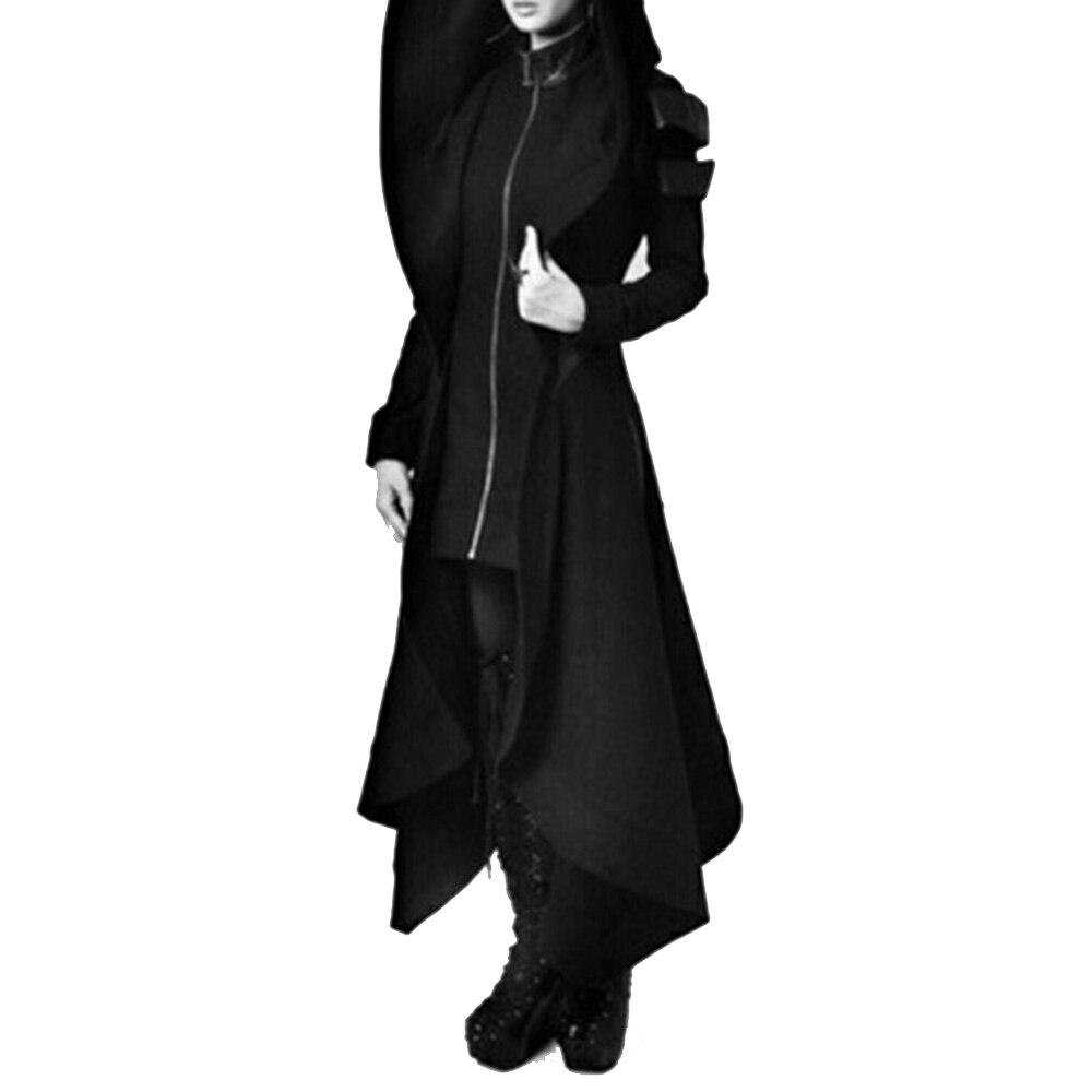 2018-Autumn-Gothic-trench-Vintage-Fashion-Women-Overcoats-Slim-Plain-Belt-Girls-Winter-Warm-black-Female