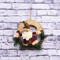 Christmas Decorations Rattan Rings Shopping Malls Old Pendants Window Hotel Scene Wooden Garlands Wholesale