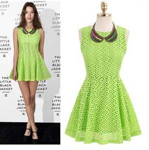 f2df3cf9fc3 European Celebrity Designer Dresses Embroidery Sleeveless Mini Dress  Fluorescent Green White Summer Dresses For Women 2013