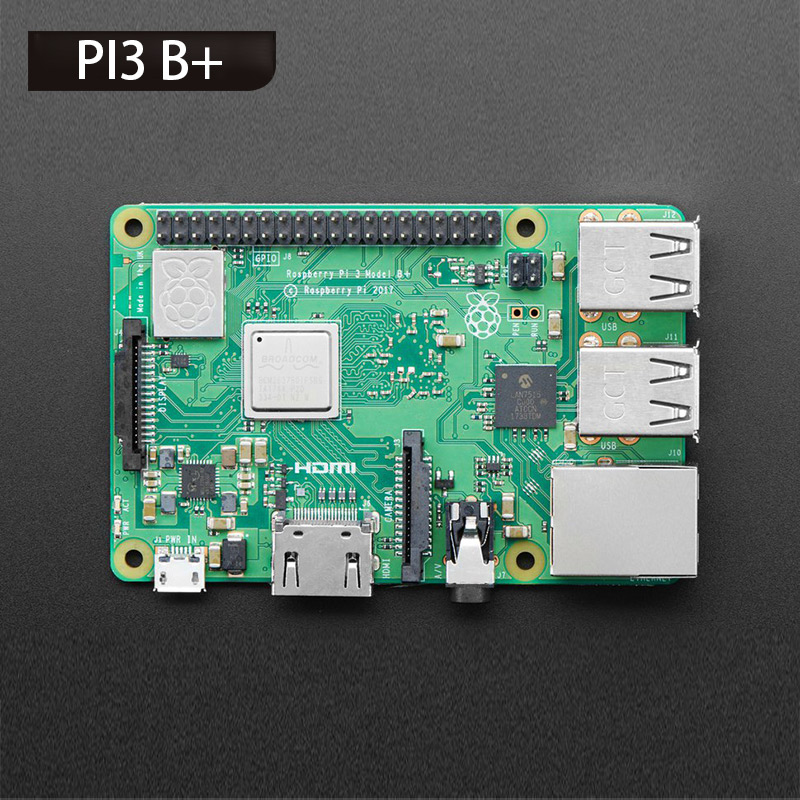 Raspberry Pi 3 Model B plus, the Improved Version 1.4GHz Cortex-A53 with 1GB RAMRaspberry Pi 3 Model B plus, the Improved Version 1.4GHz Cortex-A53 with 1GB RAM