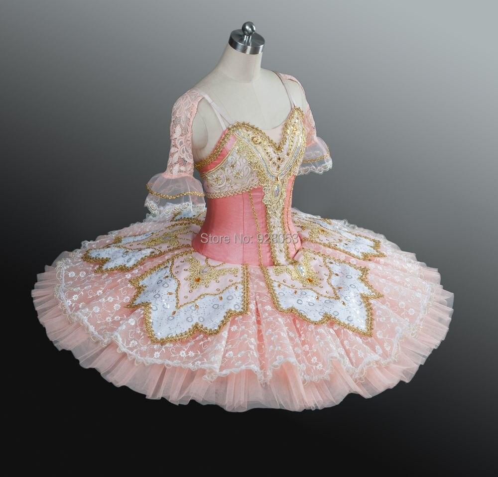 Erwachsene/Kinder/Mädchen Klassische Nussknacker Ballett ballettröckchen, Platte Tutu Kostüme, Pfofessional Rosa Rock 12 Schichten Fest Tüll Spitze BT9039 - 2
