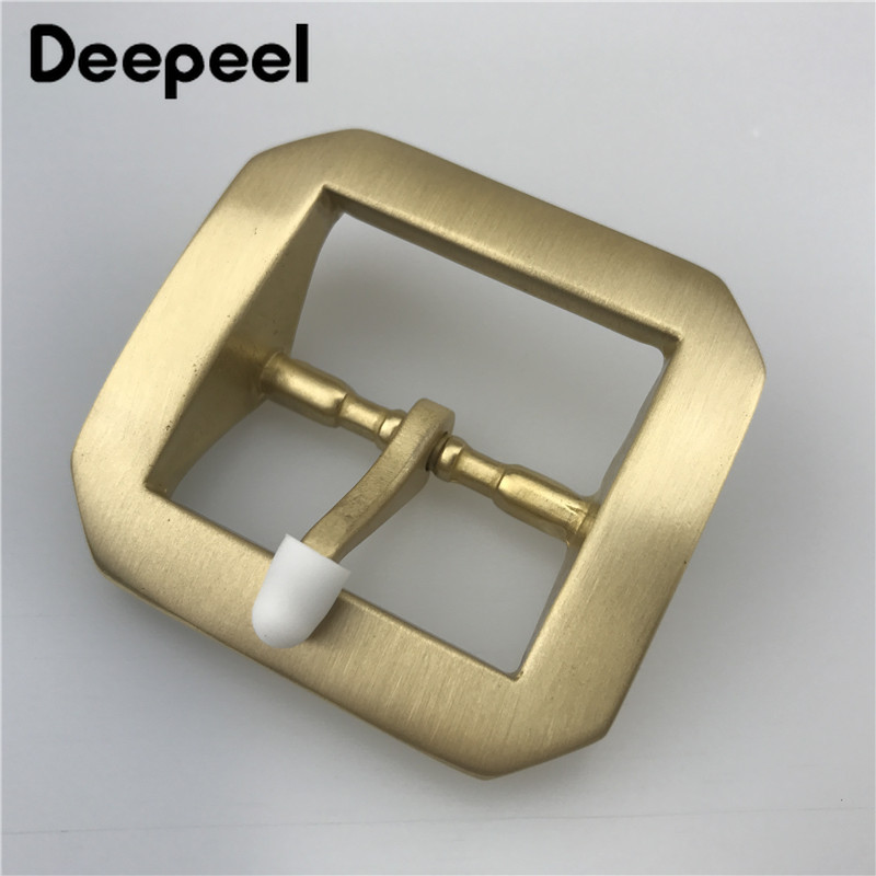 Deepeel 1pcs 40mm Men Women Belt Buckle Pure Copper Buckles Star Anise Brass DIY Belt Buckles Leather Sewing Accessories ZK2016