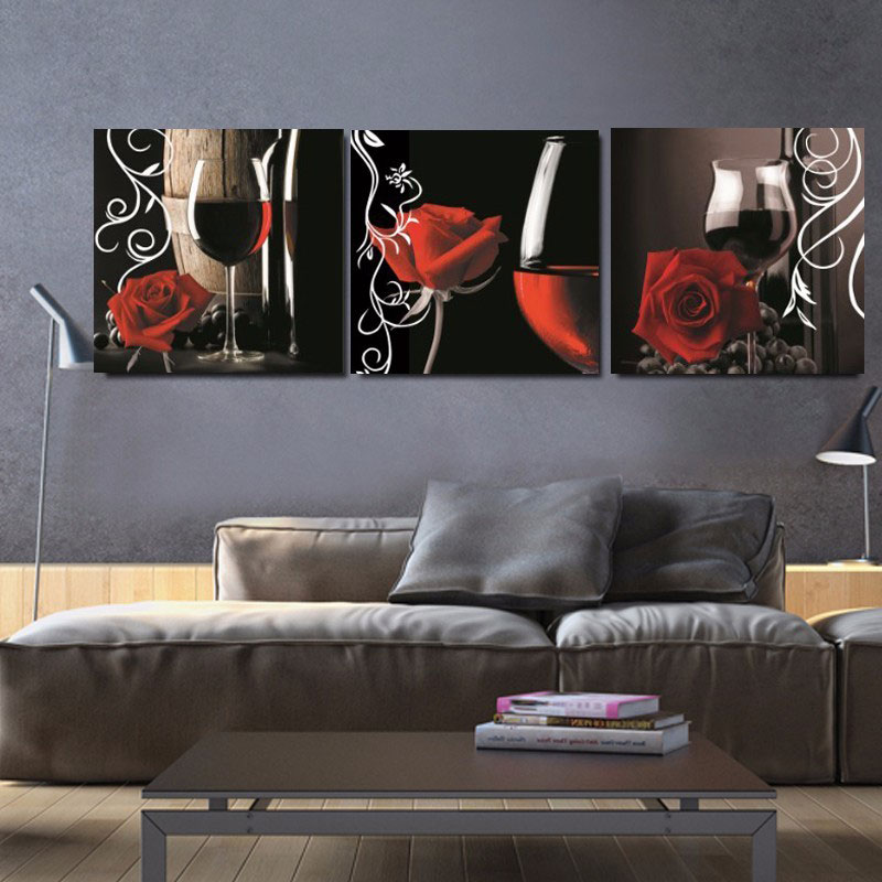 No Frame picture Home Decor Canvas Painting 3 Piece Oil Paintings House  Decorative Wall Pictures Wall Decoration Pictures