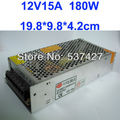 12V 15A 180W Switching Power Suply Driver for LED Strip light AC100V-240V Input, CE&RoHS Certified