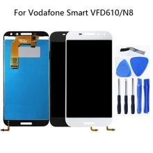 100% teste de trabalho de 5.0 polegada preto branco para a Vodafone inteligente N8 LTE VFD610 integrado display LCD + touch screen para vodafone VF610