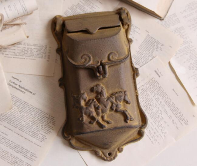 Небольшой Деревенский чугун почтовый ящик металлические буквы почтовый ящик настенный почтовый ящик Домашний Декор сад двор поставки Бесп