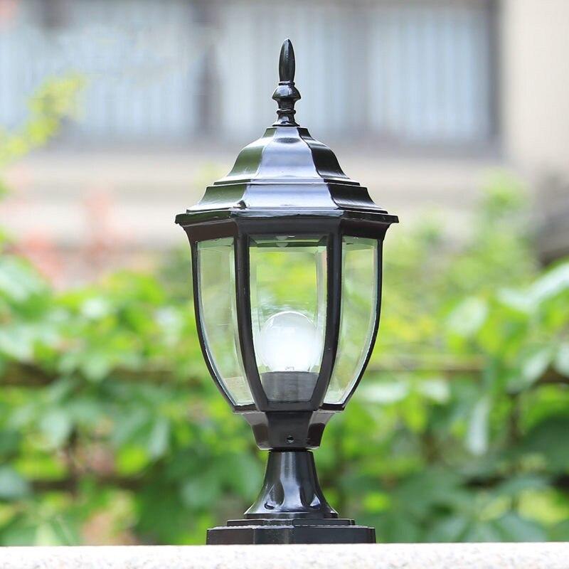 Moda pilar pós coluna ao ar livre lâmpadas de luz da paisagem do jardim da cerca decorativa iluminação WCS-OCL0029