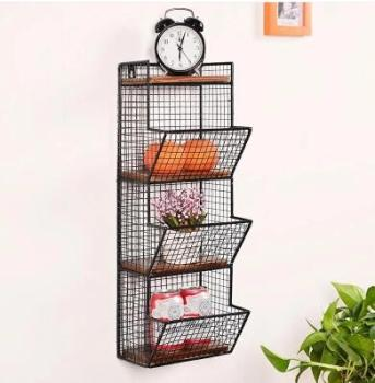 The iron art wall bookshelf. Shelves. The wall of the wall shelves shelves фото
