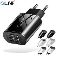 OLAF 5V 2.1A USB Charger for iPhone Xs X 8 7 6s EU Fast Wall Charger for Samsung S10 S9 S8 Xiaomi Mi 9 Mi 8 Mobile Phone Charger