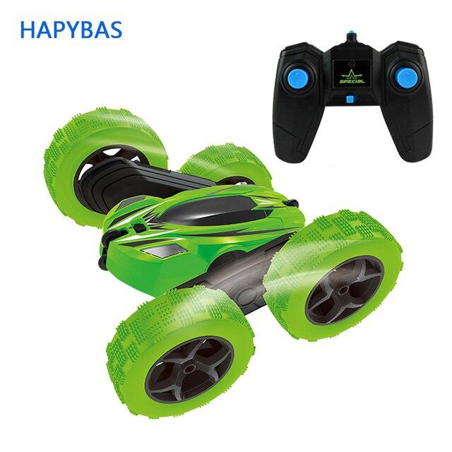 2.4 ghz のリモートコントロール車スタント rc カー高速点滅 3D フリップロールグリーン & ブルー電気レースダブル 4s のおもちゃクリスマスギフト