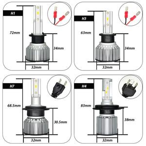 Image 5 - Bombilla de faro delantero de coche H4 LED H1 H3 9005 9006 HB4 H13 9004, 9007, 880, 881 H27 Led Auto lámpara de luz 12V Lampada H7 24V H11 12000LM 6000K