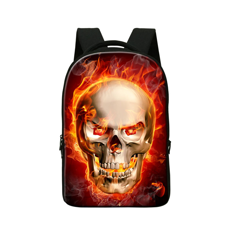 Dispalang cool computer notebook laptop backpack fire skull head school bags for high class stylish skeleton bagpack mochila airsoft adults cs field game skeleton warrior skull paintball mask