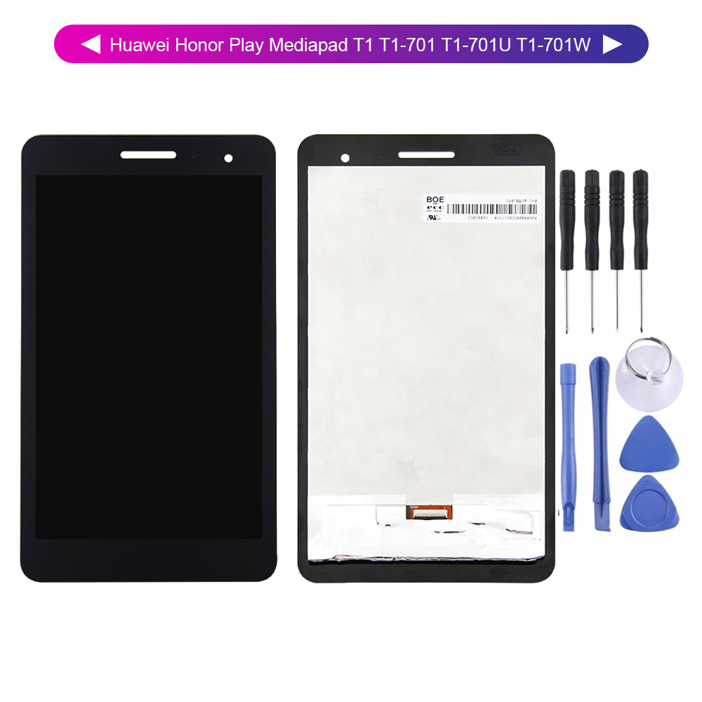 For Huawei Honor Play Mediapad T1 T1-701 T1-701U T1-701W LCD Display Digitizer Screen Touch Panel Sensor Assembly + Tools
