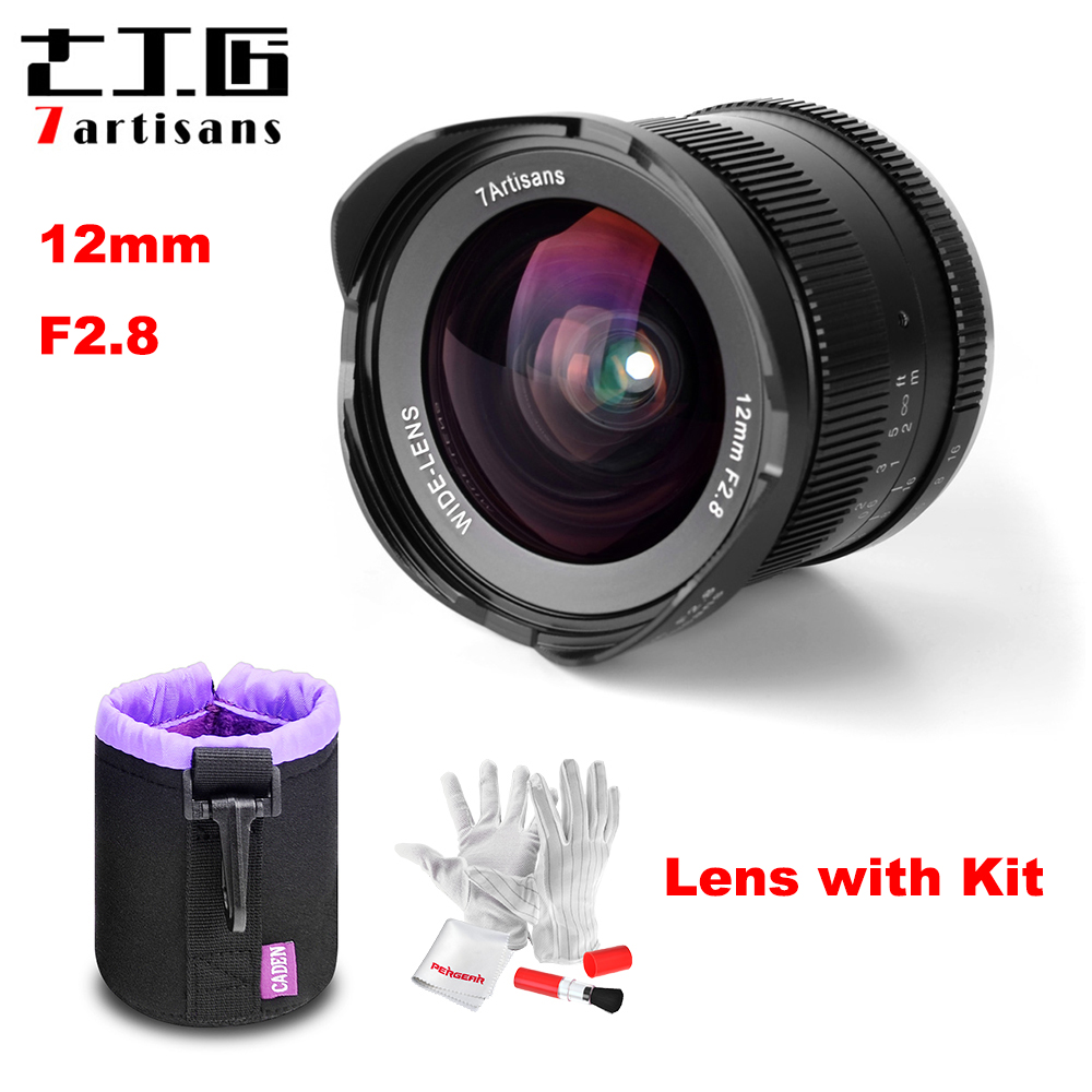 7artisans 12mm F2.8 Ultra Wide Angle Lens for Sony E-mount APS-C Mirrorless Cameras A6500 A6300 A7 Manual Focus Prime Fixed Lens black sliver 25mm f 1 8 hd mc manual focus lens for sony e nex mount camera a7 a7r a7s a7rii a7sii a6300 a6000 nex 7