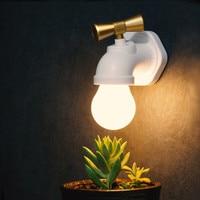 Vintage Retro Stil USB Aufladbare Smart Voice Control Wasserhahn Wasserhahn Lampe LED Nacht Licht Wand Licht Lampe Für Nacht Flur